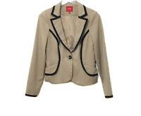 XOXO Women's Tan Blazer Long Sleeve Jacket Pockets Button Career Juniors Medium