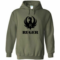 Ruger Black Logo Hoodie Sweatshirt 2nd Amendment Pro Gun Rights Rifle Pistol New