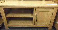Bella Oak Small TV Cabinet Solid Oak Fully Assembled