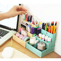 DIY Paper Board Desk Decor Storage Box Stationery Cosmetic Makeup Organizer