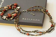 Silpada SET Sterling Silver Sponge Coral Necklace N1563 & B1695 Bracelet $165