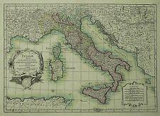 Italia con la Corsica, Sardegna & Sicilia-Janvier-KOLOR. scheda in rame 1787
