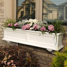 "Plastic Deck Box Light Terra 12x27/"" Lightweight Resin Fade Resist Planter Vase"