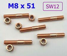 1 Stück LONGNOSE Stehbolzen M8x40  8.8 Kupfermutter M8 SW12 mit Bund