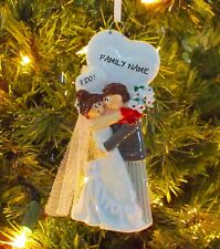 I Do Wedding Couple - Just Married - Personalized Christmas Wedding Ornament