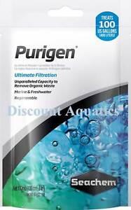 Seachem Purigen Filter Media Removes Organic Waste 100mls Plus Free Media Bag