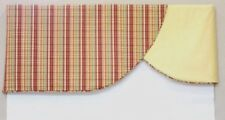 Window Valance Curtain Swag Yellow Red Green Home Decor Rod Pocket CUSTOM NEW