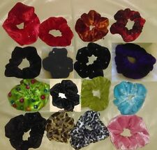 New Hair Scrunchie for Ice Skating Dance Gymnastics velour w crystals red