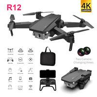 2020 Drone RC Drones R12 720P/4K HD Camera GPS WIFI FPV Foldable Quadcopter+Bag@
