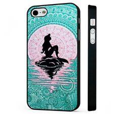 The Little Mermaid Disney Ariel Pattern BLACK PHONE CASE COVER fits iPHONE