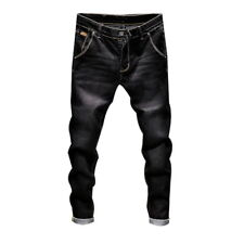 Men Stylish Denim Pants Slim Fit Jeans Retro Stretch Skinny Jeans Long Pants DS