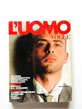 L'uomo Vogue 134 ottobre 1983 Francesco Clemente Orologi Cartier Keith Jarrett