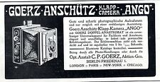 "Berlin- Friedenau C.P. Goerz A.G. Klapp- Camera ""Ango"" Historische Annonce 1908"