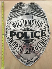 WILLIAMSTON NORTH CAROLINA POLICE COP CAR DOOR SHIELD DECAL NC
