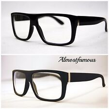 e111aa36b97b Men s Women vintage retro Style Clear Lens eye glasses thick black fashion  frame