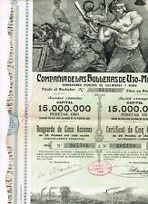 Cia. de las Huilleras de Ujo-Mieres, 1904, 5 actiones, top-deco, VF