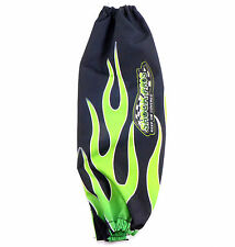 ShockPros Shock Cover Black Green Flames Offroad 4 Wheeler Custom Quad