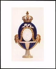 1907 ORIGINALE ANTICO CROMOLITOGRAFIA vaso e coperchio soffice PASTA Luigi XV (12)