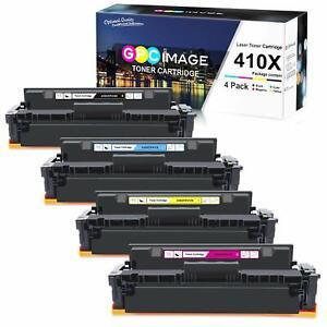 4 Toner Cartridges For HP 410X M377dw M452dn M452nw M477fdn M477fdw M477fnw
