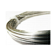 1 x Silver Plated Copper 0.8mm x 6m Square Craft Wire Coil W6080