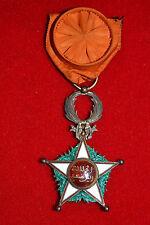 T6 SUPERBE médaille d'officier du OUISSAM ALAOUITE MAROC WW1 French Medal