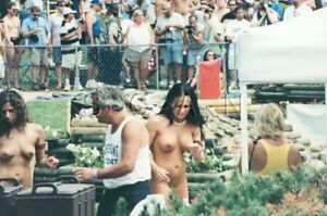 Nude Color Real Photo- Beauty Contest- Dancer- Two Endowed Women- Candid #33