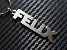 FELIX Personalised Name Keyring Keychain Key Fob Bespoke Stainless Steel Gift