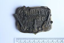 1982 Country Music Collectable Brass Belt Buckle