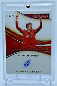 2020 Panini Immaculate THOMAS MULLER SSP CELEBRATION AUTO ACETATE #/25 FC BAYERN