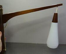 mid century danish design - Schwenkarm Ausleger Pendelleuchte Teak Lampe 60er