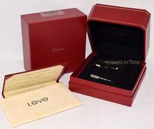 "NEW Cartier Love Bracelet Size 17  ""Skinny"" 18k White Gold Complete B6047417"