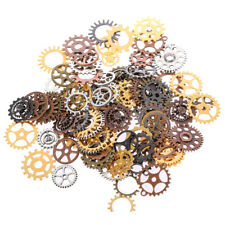 100 x Mixed Pack of Steampunk Cogs & Gears - Silver, Bronze and Gold (Approx 150