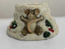 Charming Tails Fitz Floyd Snow Angels Votive Holder 93/482