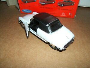CITROEN DS 19 Cabriolet fermé CHAPRON  1963 Blanc Neuve Boite