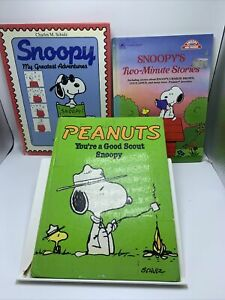 Lot: Snoopy's Greatest Adventure, Two-minute stories, Good Scout  Peanuts Books