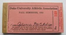 Vtg 1953 DUKE University Woman's College Sports Ticket Book Unused Blue Devils