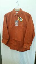 Carhartt mens long sleeve button front shirt S142SIE size large