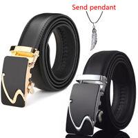 Fashion Men's Genuine Leather Belt Automatic Buckle Waist Strap Belt Waistband