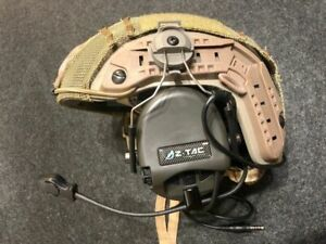 Z Tactical SORDIN Military Style Headset with ARC Helmet Rail Adaptor - FG