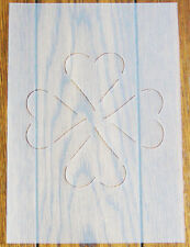 Hearts Quilting Stencil A5 Mask Reusable Polypropylene Sheet for Arts & Crafts