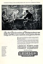 Lehigh Portland Cement Company * American Ad. in the thirties