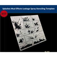 Alexen AJ0115 Splashes Mud Effects Leakage Spray Stencil Model Aging Tools