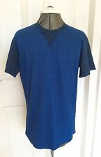 100% Genuine New Men's Diesel Designer Short Sleeve T Shirt Blue Large BNWT