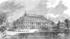 SURREY. music-hall to be built, Surrey zoo, antique print, 1856