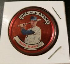 1964 **RON HUNT** ALL STARS! NEW YORK  METS #164 TOPPS COIN! USED.