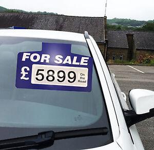 10 X Blue For Sale Sign Board, Car Price/Pricing Sun Visor