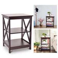 Wood Nightstand Bedside End Side Table Shelf Bedroom Storage Organizer Furniture
