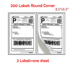 200 Premium 85 X 55 Rounded Corner Half Sheet Self Adhesive Shipping Labels