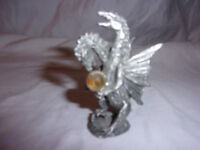 "Gallo Pewter Jeweled Piece Dragon Crystal 2.5"" Fantasy Mythical"