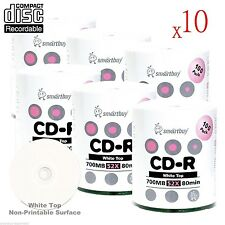 6000-Pack SmartBuy CD-R CDR 52X 700MB/80Min White Top Surface Recordable Disc